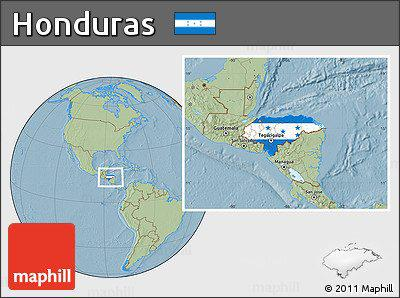 location map of Honduras