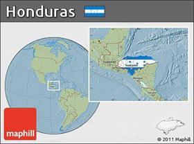 location map of Honduras
