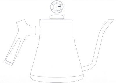 Fellow Stagg Kettle Line drawing