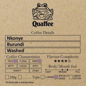 Burundi Nkonye Washed