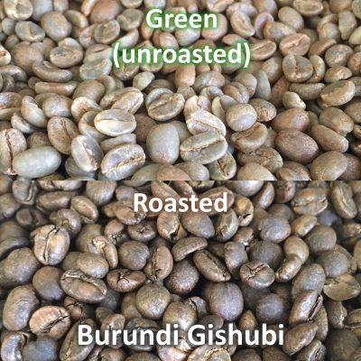 BurundiGishubi 2018 Green And Roasted