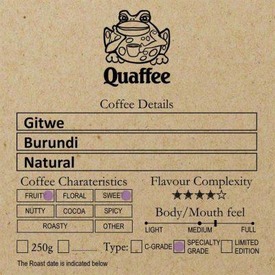 Burundi Gitwe Natural
