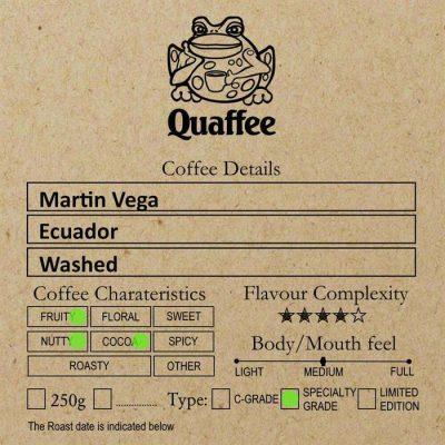 Ecuadorian Martin Vega Coffee