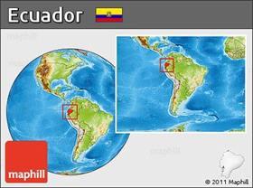 location map of Ecuador