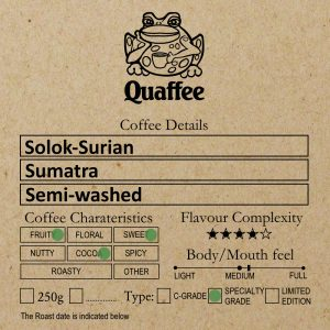 Sumatran Solok Surian Coffee