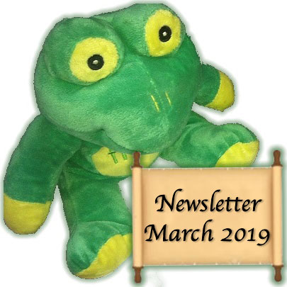 Quaffer Frog newsletter March 2019
