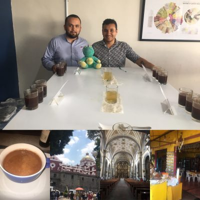 Mexican coffee production and tasting at Caravela Puebla
