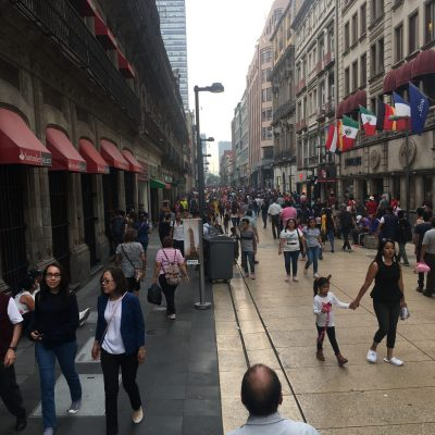 Mexico city streets become malls