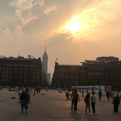 Sunset across the Zócalo