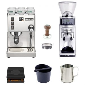 Rancilio home Barista startup kit with Sette grinder and Brewista scale