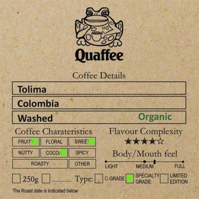 Colombian Tolima Organic