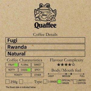 Rwandan Fugi Natural roased coffee